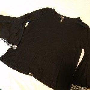 Large W5 Concepts Embroidered Bell Sleeve Top